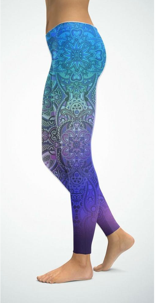 Leggins Mandala Rainbow Blue